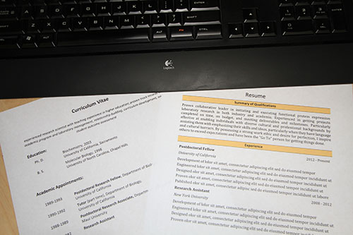 preparing a targeted resume